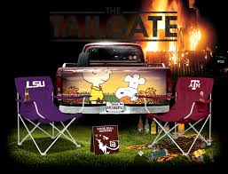 the tailgate a graphical preview of a m vs lsu bull