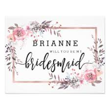 asking bridesmaids cards will you be my bridesmaid cards zazzle