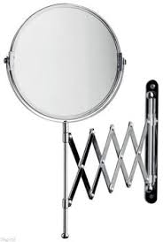wall mounted extendable mirror bathroom pantograph extension makeup mirror 5x 1x reversible 233 series by