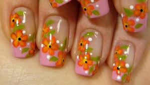 neon polka dot french nail art tutorial 55 most beautiful orange nail art design ideas