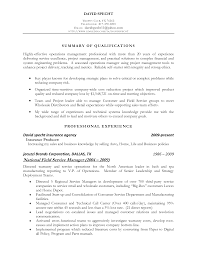 28 resume summary statement operations business sales