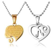 engraved pendants jewels broken heart necklace couples jewelry couples necklaces
