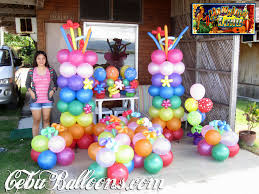 outdoor birthday party balloon decoration decorating of party