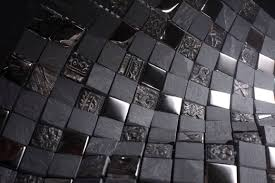 glossy and matte silver square stones porcelain mosaic tiles