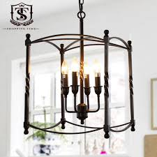 Cafe Pendant Lights Industrial Pendant Lights For Cafe Bar Retro Black White Iron Cage