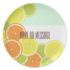 personalized dinner plate citrus fruits summer modern personalized dinner plate