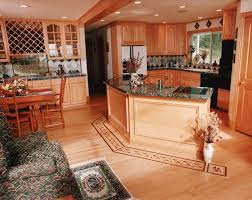 hardwood flooring in kitchen black kitchen island matching bar