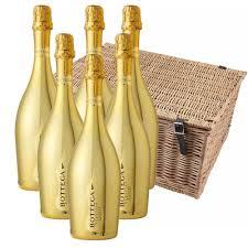 martini prosecco bottega gold prosecco 75cl gift boxed case of 6 hamper