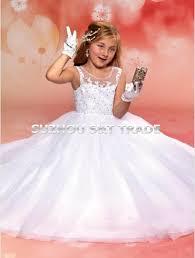 wholesale angel white scoop tulle flower dresses for weddings