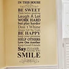 Family House Rules In This House We Do Family Rules House Rules Vinyl Wall Decal