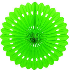 paper fan circle decorations 40cm lime green decorative paper fan party decorations the party