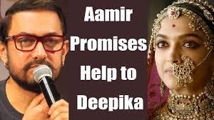 5 Deepika Padukone Controversies That Stunned Bollywood - padmavati controversy aamir khan promises help to deepika padukone