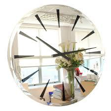 modern mirror wall clock contemporary heaven uk