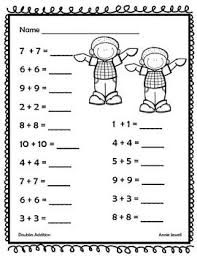 doubles addition facts worksheets the 25 best doubles worksheet ideas on math doubles