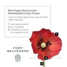 red poppy boutonniere remembrance day flower by fort belvedere