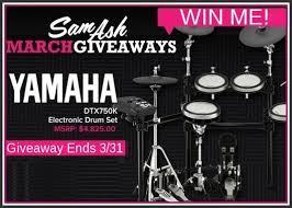 black friday electronic drum set sam ash music stores yamaha giveaway win yamaha electric drum set