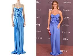 Draped Gown Rosie Huntington Whiteley Gucci Satin Draped Gown Red Carpet