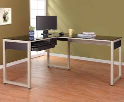 Modern Glass Desk With Drawers Office Desk White And Glass Desk Simple Desk Contemporary Glass