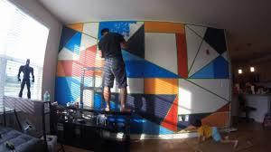 geometric wall design youtube