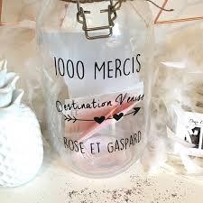 1000mercis mariage bocal personnalisée pour mariage