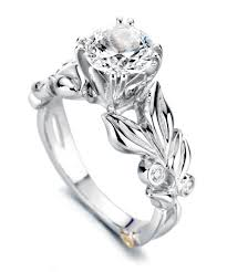 floral engagement rings flora floral engagement ring schneider design california