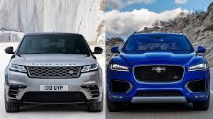 2018 range rover velar vs 2017 jaguar f pace youtube