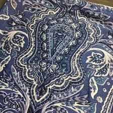 ralph lauren putney paisley blue white king sham