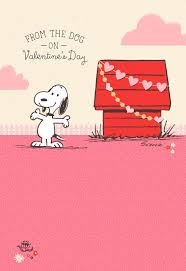 snoopy valentines day peanuts snoopy s day card from the dog greeting cards
