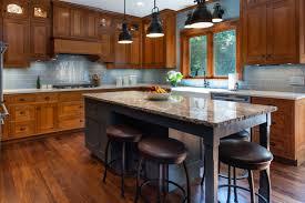 blue kitchen island with oak cabinets inver grove heights rustic rift sawn oak kitchen mcdonald