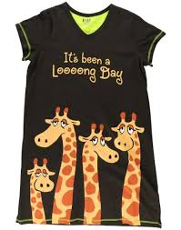 s day giraffe day giraffe v neck pj nightshirt
