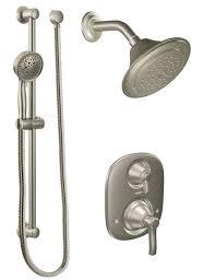 Moen Caldwell Faucet Moen Adler Spot Resist Brushed Nickel 1handle Shower Faucet With