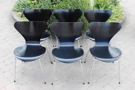 model 3107 dining chair by arne jacobsen for fritz hansen 1960s