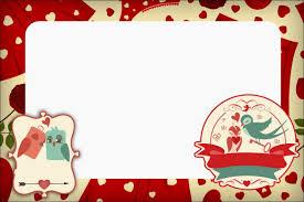 Free Printable Invitations Cards Valentine U0027s Day Birds Free Printable Invitations Cards And Photo