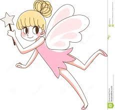 beautiful fairy magic wand pink cute vector illustration