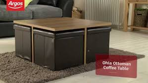 coffee table ohio ottoman chocolate and oak effect coffee table