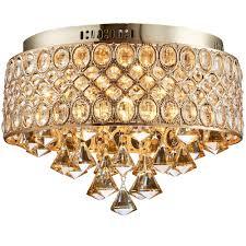 gold flush mount light flush mount gold led ceiling l led crystal lights e14 bulb