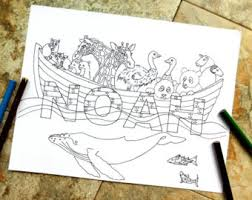 flood coloring pages the great flood etsy