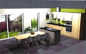 grande table cuisine cuisine ouverte sur salle a manger et salon 5 cuisine en u avec