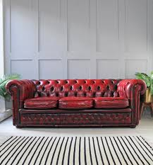 Vintage Leather Chesterfield Sofa by Vintage Oxblood Chesterfield Sofa Vinterior