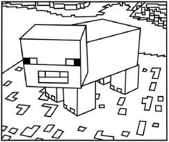 coloring pages minecraft pig 21 best minecraft coloring pages images on pinterest minecraft
