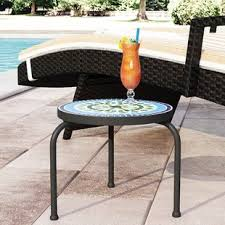 outdoor furniture side table outdoor side tables you ll love wayfair