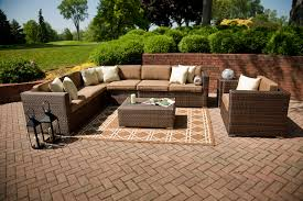 Outdoor Patio Furniture Sectionals Outdoor Patio Furniture Sectional Brown Color Home Design Ideas