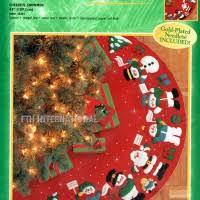 bucilla felt tree skirt kits fth international sales ltd