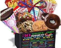 birthday gift baskets for him 30th birthday gift etsy