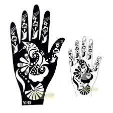 1pc large india henna tattoo stencil glitter temporary mehndi