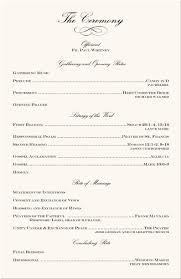 wedding program sles free stunning simple wedding ceremony program gallery styles ideas