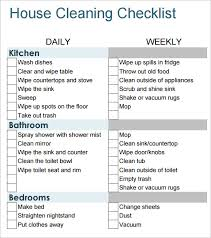 Bathroom Cleaning Checklist Template Cleaning Checklist Glitter Guide U0027s Room By Room Checklist 5