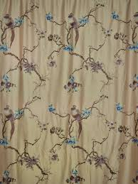 63 inch 96 inch light apricot embroidered branch grommet faux silk