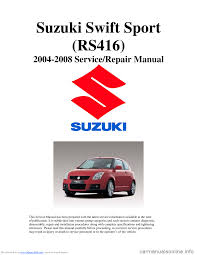 suzuki swift 2006 2 g service workshop manual