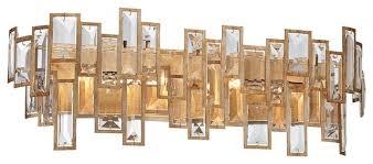 Crystal Bathroom Vanity Light by Bel Mondo Crystal 4 Light Wall Sconce Luxor Gold Contemporary